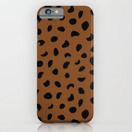 Leopard Print - Orange Brown iPhone Case