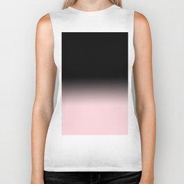 Modern abstract elegant black blush pink gradient pattern Biker Tank