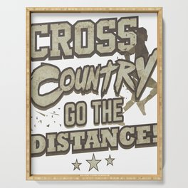 Running Addict Cross Country Runner Go the Distance Serving Tray