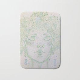 A woman of Crystals Bath Mat