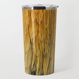 Fancy Rooster Feathers Travel Mug