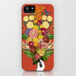 Botanical Red iPhone Case