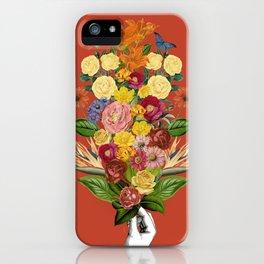 Botanical Red iPhone Case