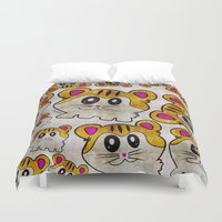rap Duvet Covers featuring Rap Rats by EarlyHuman
