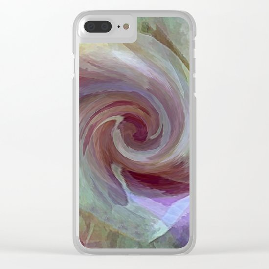 Cool Rose Clear iPhone Case