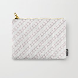 Soft Alice Pink and White Candy Cane Checker Square Stripe Carry-All Pouch