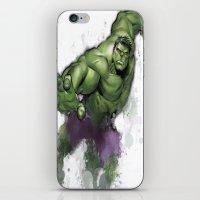 hulk iPhone & iPod Skins featuring Hulk  by Isaak_Rodriguez