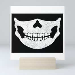 Skull Face Black and White Mini Art Print