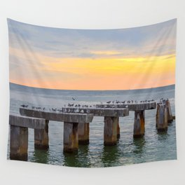 Boca Grande Pier Pilings  Wall Tapestry