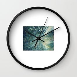 1898-Claude Monet-Morning on the Seine- 73 x 91 Wall Clock