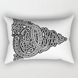 Thor Vs Jormungandr White Rectangular Pillow