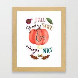Pumpkin Spice Fall Framed Art Print