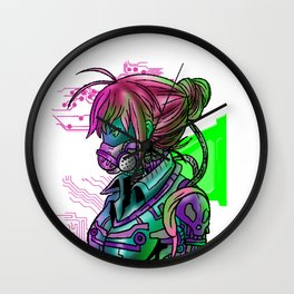 Cyborg Girl Robot Robotics Android Cybernetic Gift Wall Clock