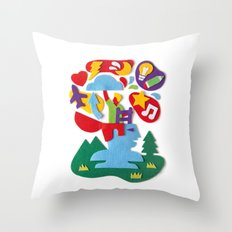 Brainstorming Throw Pillow