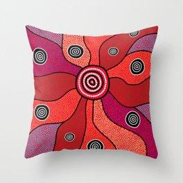 Authentic Aboriginal Art - Central Lands Throw Pillow