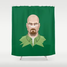 Breaking Bad - Walter White Beaten Up Shower Curtain