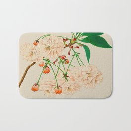 Fugen's Elephant Cherry Blossoms Bath Mat