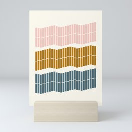 Geometric Piano Keys Mini Art Print