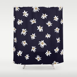 Swiss Flower Print Shower Curtain