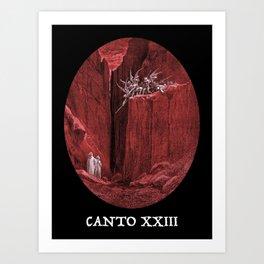 Dantes Inferno Canto 23 (Malebranche) Art Print