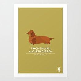 Dachshund (longhaired) Art Print