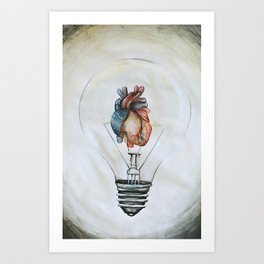 the best ideas come from the heart Art Print