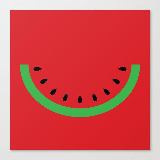 Minimal Melon Canvas Print