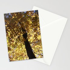 Alive With Fire Leaves Stationery Cards