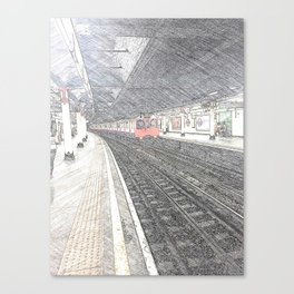 Temple Station London 1 Canvas Print