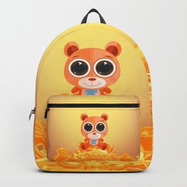 Teddy Bear - Candy Orange Backpack