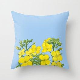 Summer flower in yellow Throw Pillow