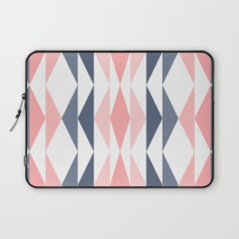 Triangle Pattern in Blush and Slate Laptop Sleeve