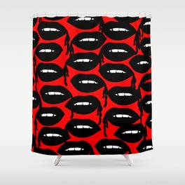 Bloody Lips in Red Shower Curtain