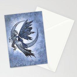 Steel Moon Blue Fairy Fantasy Art by Molly Harrison Stationery Cards