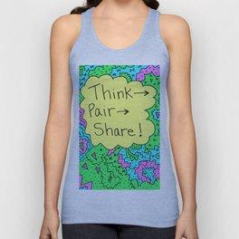 Think, Pair, Share! Unisex Tank Top