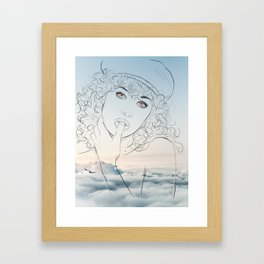 Hey, you, get off my cloud Framed Art Print