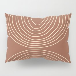 Hand drawn Geometric Lines in Terracotta and Beige 2 Pillow Sham