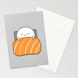 sleepy sushi Stationery Cards