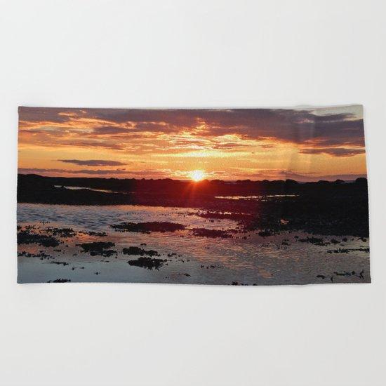Sunset from the Beach Beach Towel