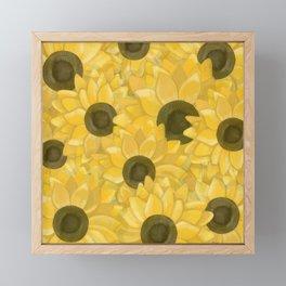 Kansas Sunflowers Framed Mini Art Print