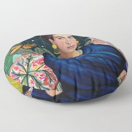 Frida et sa nature vivante Floor Pillow