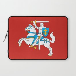 State Flag of Lithuania Knight On Red Laptop Sleeve