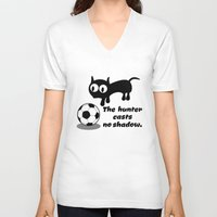 football V-neck T-shirts featuring Cat Football by mailboxdisco