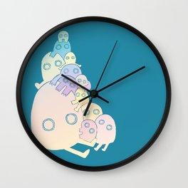 Lumps (Blue) Wall Clock
