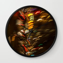Lumières de la nuit Paris street Wall Clock