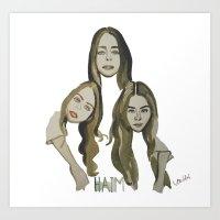 haim Art Prints featuring Haim by Icillustration