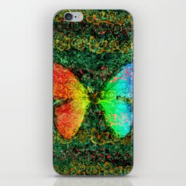 Butterfly Rainbow iPhone Skin