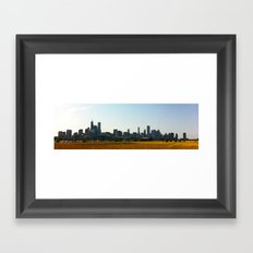 View of Chicago from Northerly Island Framed Art Print