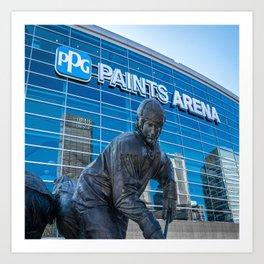 Pittsburgh Hockey Arena Statue Sports Pennsylvania Steel City Art Print