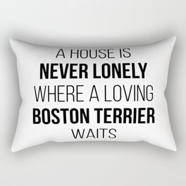 Boston Terrier Dog Cute Quote Rectangular Pillow